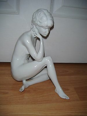 Large White Gloss Kaiser Germany Naked Girl / Lady Figurine 489 ~ Exquisite