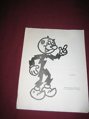 Reddy Kilowatt Electric Company El Paso Advertising Cake Recipe Booklet