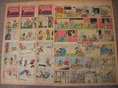 Disney, 4 sunday Fulls from 1937, December, Snow White, complete month