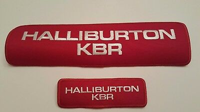 Vintage Oilfield Embroidered Patch Halliburton KBR Large and Small Patch