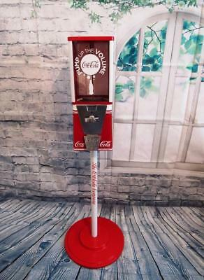 Coca cola vintage gumball machine man cave bar  bubble gum with  metal stand