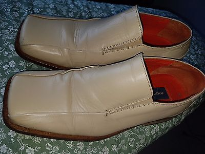 Mortons Vintage 1970s Cream Mens Shoes Size 8