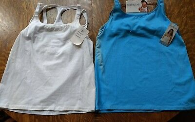 2 nursing camis! Turquoise is Leading Lady size M , white unbranded M