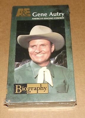 A&E'S Biography: Gene Autry - America's Singing Cowboy (VHS, 1996) NEW SEALED