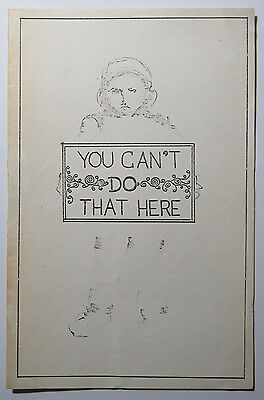 """You Can't Do That Here"" Program, Down-Stage Studio Theatre, NYC, Nick Tambasco"