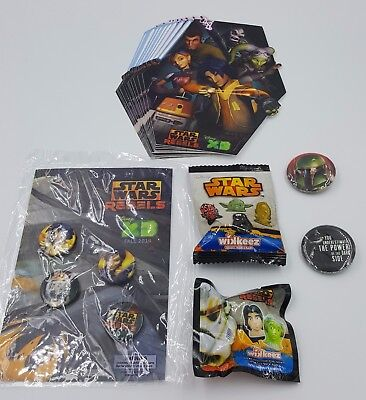 STAR WARS collectible Wikkeez, pin and sticker set