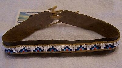 Hand Made Beaded Hat Band Rendezvous Black Powder Mountain Man 04