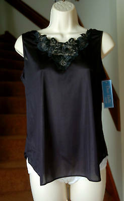 Dixie Belle Antron III 100% Nylon Lace Top Wide Strap Black Cami Size Medium