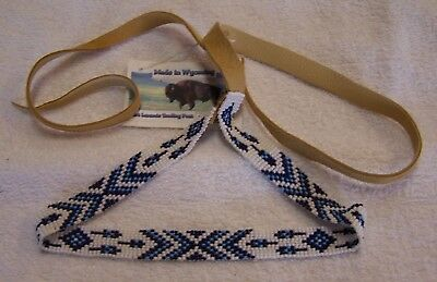 Hand Made Beaded Hat Band Rendezvous Black Powder Mountain Man 06