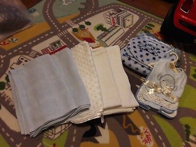 Baby Blankets Bundle plus bib and burping cloth set by chick pea