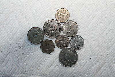 Vietnam and Lao Coins, total of 8, 1952-68 (1/5/10/20 Dong)