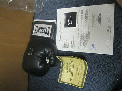 Muhammad Ali Autographed Boxing Glove Personalized JSA Certified