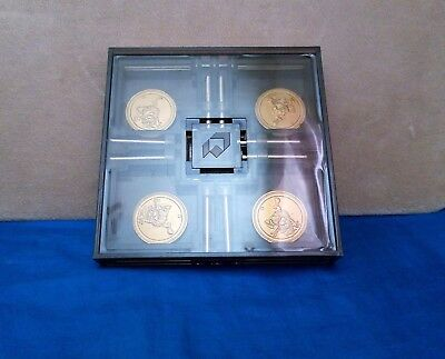 Vintage Quality Smoky Lucite Chamber Puzzle Gold Coins Collectible