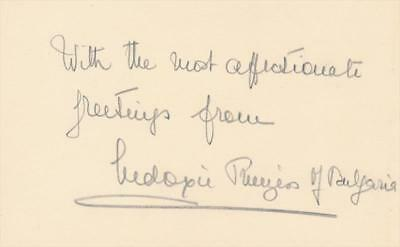 Eudoxia of Bulgaria- Vintage Signed Card