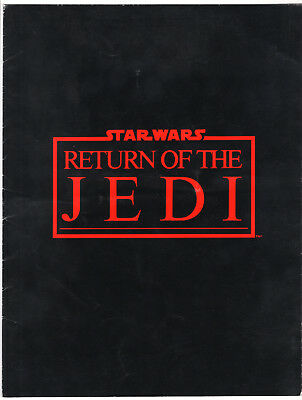 Old 1983 Star Wars Return of the Jedi Original Press Kit Folder No Photos Used