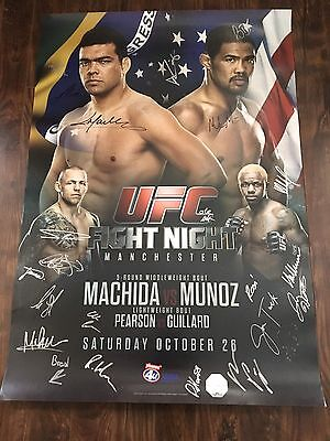 UFC Fight Night Manchester Machida vs Munoz Autographed Event Poster, MMA, SBC