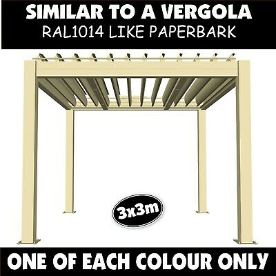 Opening Roof Pergola 6.3M x 4m Vergola Electric Outback Patio Sunroof Verandah