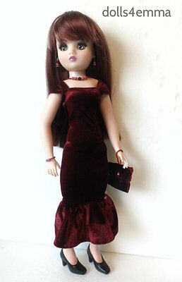 CISSY DOLL CLOTHES Holiday Gown + Purse + Jewelry handmade Fashion NO DOLL d4e