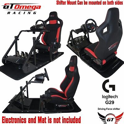 GT Omega ART Simulator Cockpit RS6 for Logitech G29 Racing wheel shifter PS4