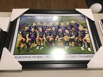Melbourne Storm Team Pic Framed 2017 anzac day 2017