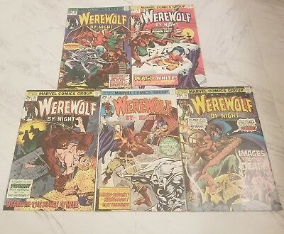 Werewolf By Night #37 comic lot VF condition 5 issues  third moon knight