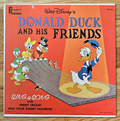 Disney Donald Duck & Friends  LP Children's Record Circa 1960s early 1970's