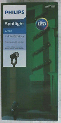 NEW Philips 763352 LED Indoor/Outdoor Spotlight Green Projects up to 20 Feet
