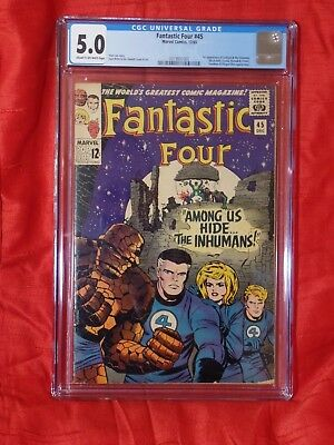 Fantastic Four 45 CGC 5.0 * Off-white Pages — New Case — No Reserve