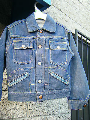 Vintage JC PENNEY FOREMOST Denim Jacket  Selvedge Pleated