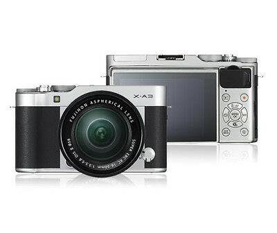 Fujifilm X-A3 Mirrorless Digital Camera Kit with 16-50mm Lens Silver