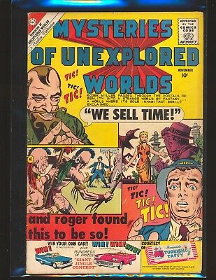 Mysteries Of Unexplored Worlds # 21 - Ditko cover & art VG Cond.
