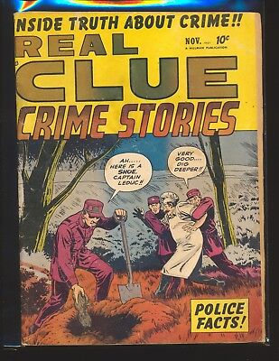 Real Clue Crime Stories Vol. 6 # 9 VG Cond. slight water damage