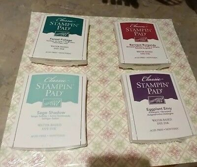 STAMPIN' UP! LOT 4 STAMP PADS, 12 SHEET BE OF GOOD CHEER DESIGN PAPER 12x12 NEW