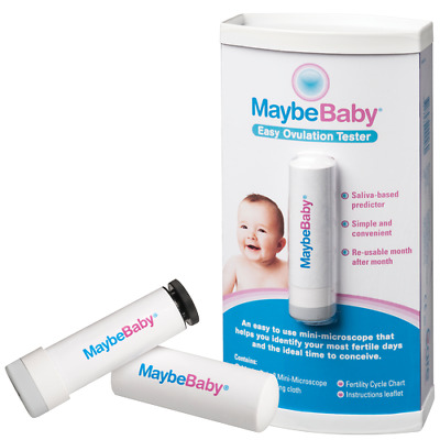 MAYBE BABY Easy Ovulation Tester SALIVA Based Re-usable up to 10,000 uses *MVC*