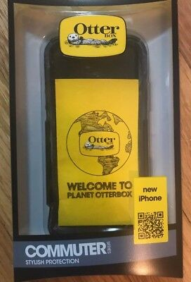 iPhone 5 or 5S or 5SE Otterbox Commuter Case Black With Screen Protector