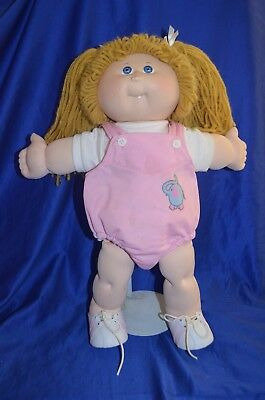 Cabbage Patch Kids '25th Anniversary' Doll Blue Eyes Pink Outfit / Shoes.