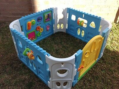 Square Baby Interactive Playpen with Gate