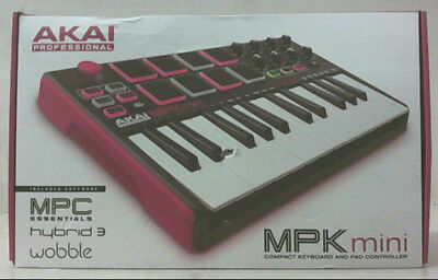 NEW Akai Prof MPK Mini MKII 25-Key USB Midi Drum Pad & Keyboard w Joystick $185