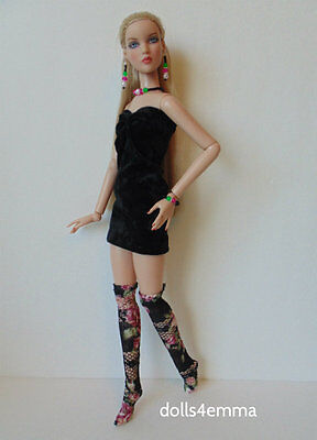 CAMI & Antoinette Doll Clothes Sexy DRESS THIGH-HIGHS JEWELRY HM Fashion NO DOLL
