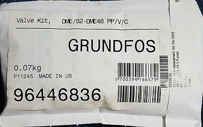 New GRUNDFOS Check Valve Replacement Kit Pump DME/S2 DME-48 Pump PP/V/C 96446836