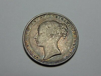 1846 Great Britain Victoria Shilling Vf No Reserve! Super Nice! Must See!!