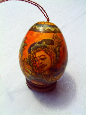 Indonesian Painted Egg Ornament