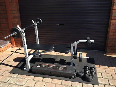 Dynamax PB250 Bench Press including 50KG Weight set and floor mats