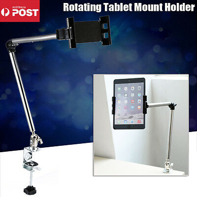 Rotating Bed Tablet Mount Holder Stand For Ipad Mini Iphone Samsung Galaxy Black