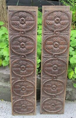 Two 18Thc. English Oak Carved Panels