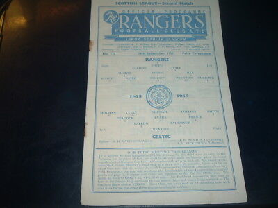 Rangers v Celtic Sept 1955