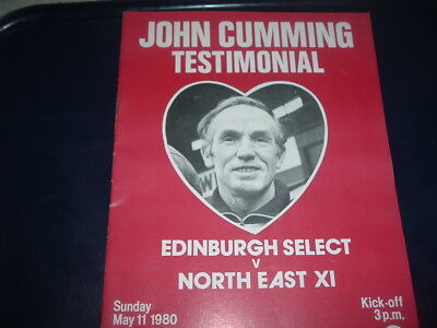 Edinburgh Select Hibs Hearts v North East Dundee Dundee Utd May 1980 Cumming