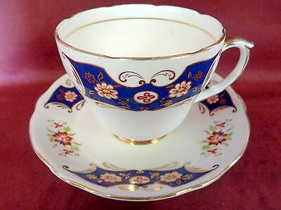 Vintage Duchess Sheraton Large 1/2 Pint Cups And Saucer Very Good Condition