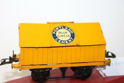 hornby o gauge cement wagon in box  [ ks360]
