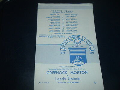 Morton v Leeds Utd Aug 1971 friendly